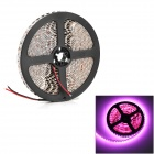 HL 48W 1200lm 380nm 600-SMD 3528 LED Pink Light Flexible Light Strip - Black + White (500cm / 12V)