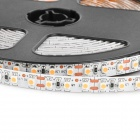 HL 48W 1200lm 380nm 600-SMD 3528 LED Pink Light Flexible Light Strip - Svart + Vit (500cm / 12V)