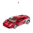 611 Rechargeable  2.5-CH Radio Control IR R/C Music Car - Red (4 x AA)