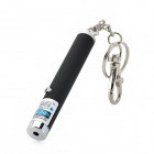 5mW 405nm Blue-Violet Laser Pointer w/ Key Chain - Silver + Black (1 x AAA)