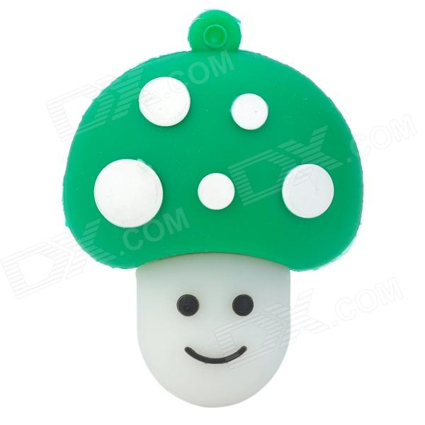 Cute Cartoon Mushroom USB Flash Drive - Green + White + Black (16GB) cute cartoon mushroom usb flash drive pink white purple 8gb