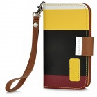 KALAIDENG Protective PU Leather Flip-Open Case w/ Strap for Iphone 4 / 4S - Multicolor