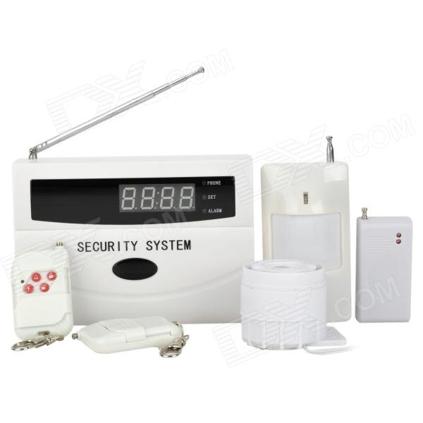 "Heacent AD003 2.1"" LCD Intelligent Auto-Dial Security Alarm System - White + Black"