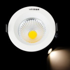 Resch Dayton 5W 4100K 450lm 1-COB LED Warm White Ceiling Down Light - White + Black (AC 85~245V)