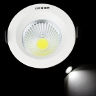 Resch Dayton 5W 6400K 450lm 1 x COB LED White Ceiling Lamp / Down Light - White + Black (AC 85~245V)