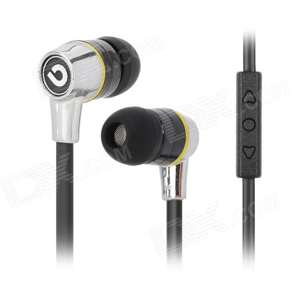 BIDENUO G380 In-ear Style Stereo Earphone - Black (3.5mm Plug) star pattern stereo in ear earphone black 3 5mm plug 116cm