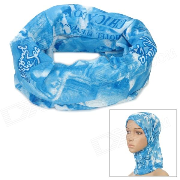 Multifunctional Outdoor Polyester Scarf - Blue