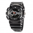 ALIKE AK1383 Water Resistant Rubber Band Acryl Zifferblatt Quarz Analog + Digital-Sport-Armbanduhr