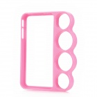 Protective Plastic Knuckle Bumper Frame Case for iPhone 4 / 4S - Pink
