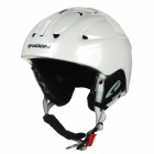 Moon MS-83 Stylish Outdoor Sports PC + EPS Skiing Helmet - White
