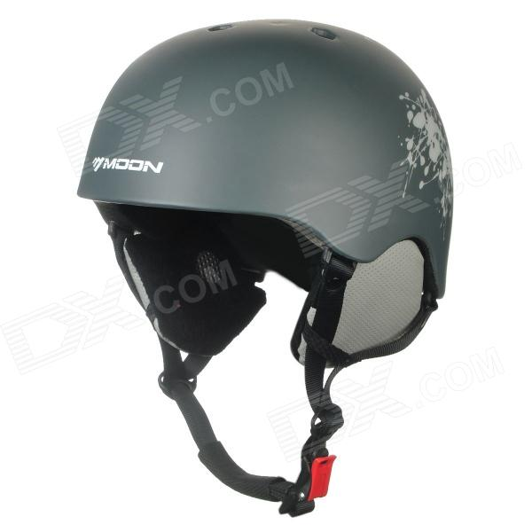 Moon MS-82 Stylish Outdoor Sports PC + EPS Skiing Helmet - Dark Grey