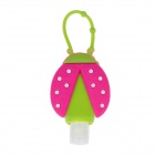 Colorful Beetle Style Emulsion / Liquid Container Bottle - Green + Deep Pink (30ml)