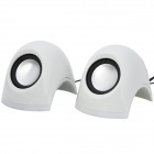 Mini Subwoofer 2-Channel 5W Speakers - White + Black