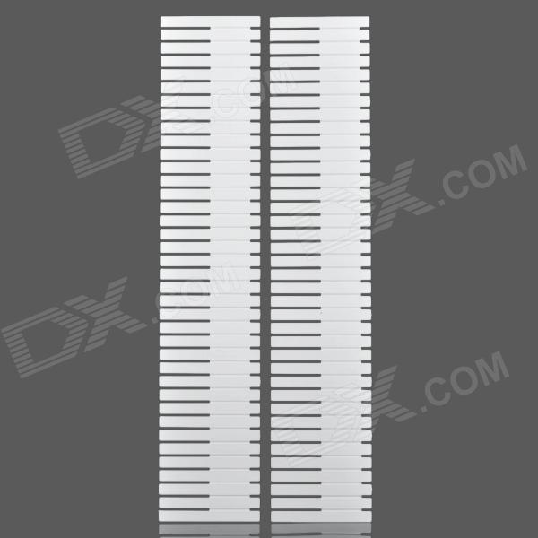 Drawer Organizer Divider Grid Strips - White (2 PCS) kitcox01761easaf3274bl value kit safco one drawer hospitality organizer saf3274bl and clorox disinfecting wipes cox01761ea
