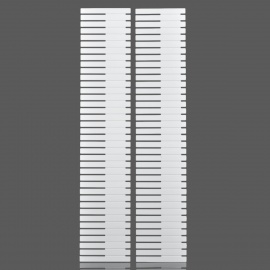 Bandes Drawer Organizer Séparation Grid - Blanc (2 pcs)