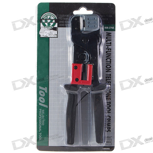 RJ11/RJ45 Network and Telephone Cable Crimping Tool with Cable Stripper