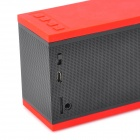 D501 Bluetooth V2.0 + EDR Handsfree 5W Stereo Speaker w/ Microphone / TF Card Slot - Black + Red