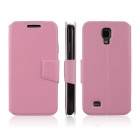 ENKAY Protective PU Leather Case Cover with Stand Function for Samsung Galaxy S4 / I9500 - Pink