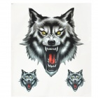 Stylish Decorative Cool Wolf Pattern Sticker for Motorcycle / Car - Gray + Black + White