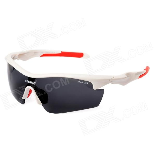 NBIKE 9366 UV400 Protection Resin Lens Polarized Sunglasses - White + Red retro women sunglasses polarized driving sun glasses with pc metal hinge shades uv400 protection gafas de sol mujer 4 colors