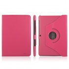 ENKAY 360 Degree Rotate Protective PU Leather Case Cover for Samsung Galaxy Tab 2 P5100 - Deep Pink
