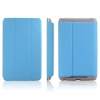 ENKAY ENK-7101 Protective PU Leather Case Cover for Google Nexus 7 - Sky Blue + Grey