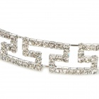 ZX-0366 Fashion femmes ' s Hollow Out Style Perle Cristal Hair Band - Silver
