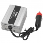 100W 12V-to-220V Aluminum Alloy Power Inverter for Car Use - Silver + Black