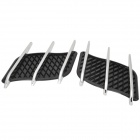 Car Modification Tuyere Decorative Electroplated ABS + Plastic Panel - Black + Silver