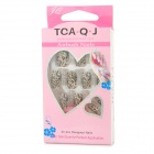 Leopard Pattern False Nail Tipsw/ Glue - Black + Golden (24PCS)