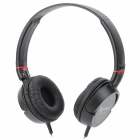 MAIBOSI MX-118 Headset Headphones w/ Microphone / Volume Control - Black (3.5mm Plug / 180cm-Cable)