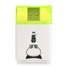 c311 USB3.0 SD SDHC 5Gbps Multifunction High Speed Card Reader - White + Green