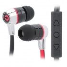 BIDENUO G380 Stylish In-Ear Earphones - Red + Black + Silver (3.5mm Plug / 126cm)