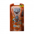 Genuine Gillette Fusion Power 5-Blade Shaver Razor - Blue + Silver + Orange (1 x AAA)