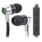 BIDENUO G380 Stylish In-Ear Earphones for Iphone / Ipad / Iphone - White + Black + Silver