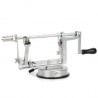 Hand-Operated Super Fast Apple Fruit Peeler Corer Slicer Machine - Silver
