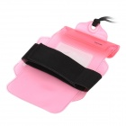 "Waterproof Bag Pouch w/ Armband + Neck Strap for Iphone / 5.5"" Cell Phones - Pink"