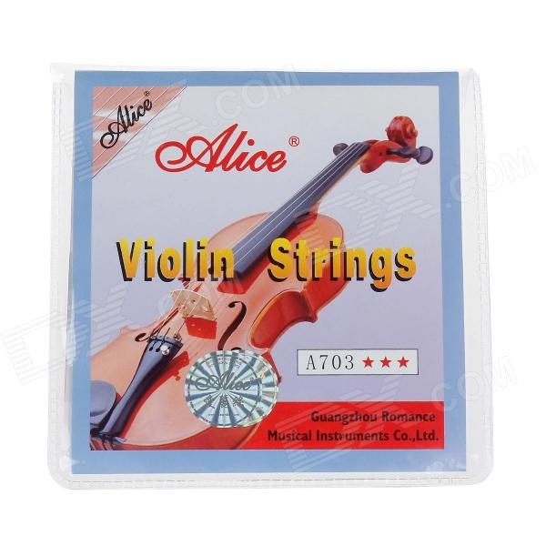 ALICE A703 0.13 / 0.15 / 0.28 / 0.41 Stainless Steel Strings Set for 1/8-4/4 Acoustic Violin 3 sets alice aw466 light acoustic guitar strings plated high carbon steel