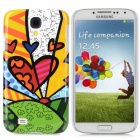 Protective Children Drawing Pattern Back Case for Samsung i9500 - Colorful