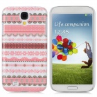 Stylish Protective Plastic Back Case for Samsung Galaxy S4 i9500 - Pink + White