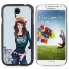 Fashion Girl Pattern Protective Plastic Back Case for Samsung i9500 - Multicolored