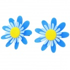 Spinnable Flora Scented Flower Style Tuyere Adornment / Air Freshener - Blue + Yellow (2 PCS)