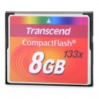 Transcend 133x CompactFlash CF Memory Card - Red (8GB)