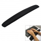 Silicone + Sweat-Absorbent Cloth Wrist Support Pad for Keyboard - Black