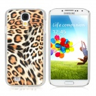 Protective Feather Grain Style PC Back Case for Samsung Galaxy S4 i9500 - Yellow + White + Black