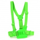 TMC Front Chest Elastic Belt Shoulder Strap Mount for GoPro HD Hero2 / Hero3 / 3+ / SJ4000 - Green