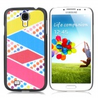ENKAY Colored Ribbon Pattern Protective PC Hard Back Case for Samsung Galaxy S4 i9500 - Multicolored