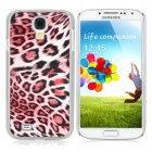 Protective Feather Grain Style PC Back Case for Samsung Galaxy S4 i9500 - Red + White + Black