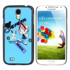 ENKAY Cute Girl Pattern Protective Plastic Hard Back Case for Samsung Galaxy S4 i9500 - Multicolored