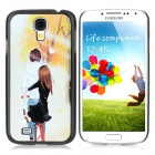 ENKAY Couple Cycling Pattern Protective PC Hard Back for Samsung Galaxy S4 i9500 - Multicolored